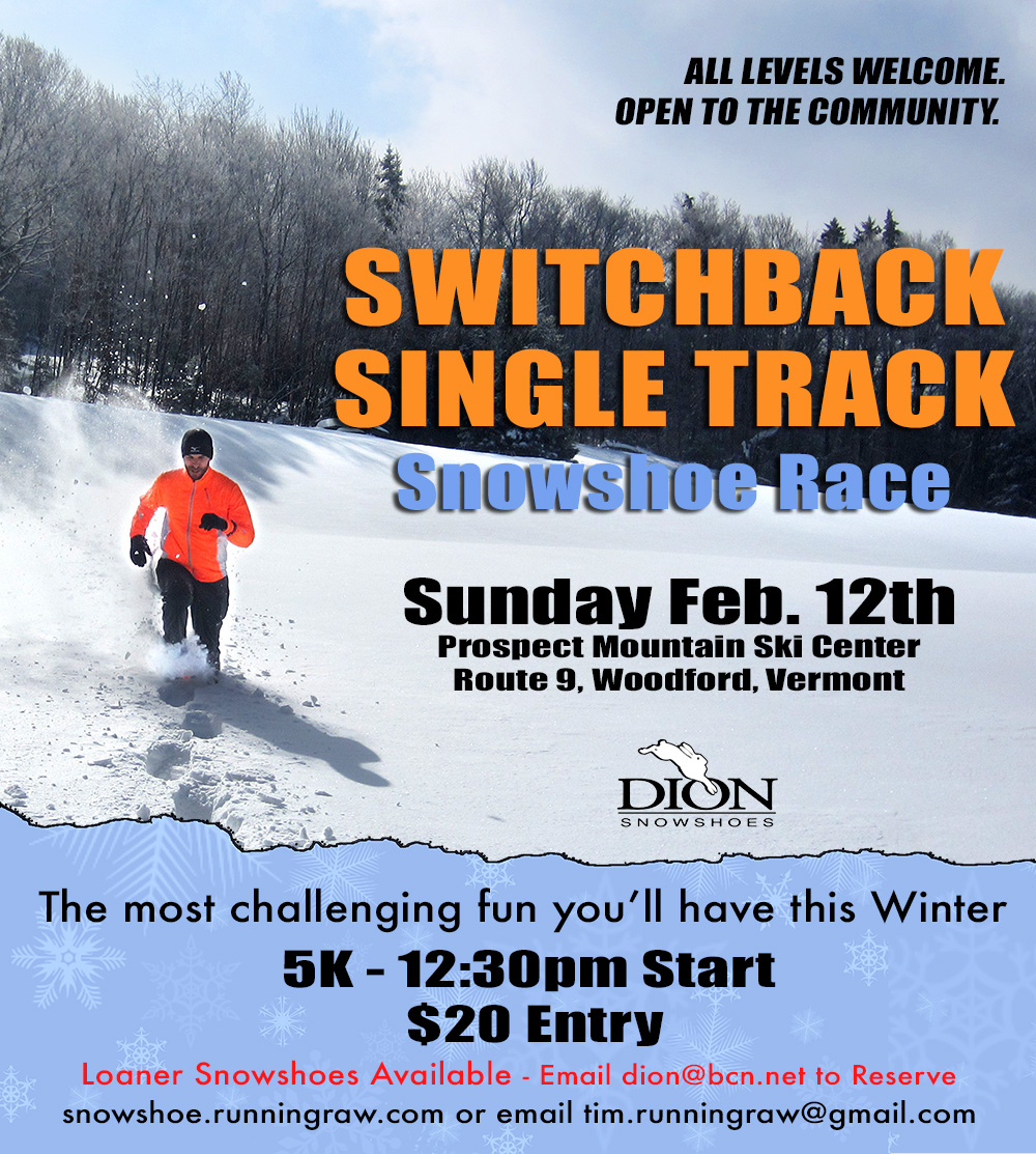 Switchback Singletrack 5k Snowshoe Race 2017