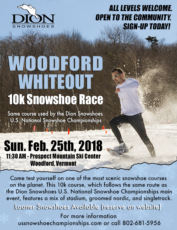 Woodford Whiteout Snowshoe Race February 25th 2018